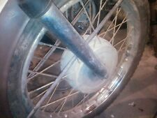 1974 cz 175 cz175 front wheel hub and tire