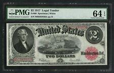 FR60 $2 1917 LEGAL TENDER PMG 64 EPQ VERY CHOICE UNC HW3846