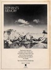 Elephants Memory John Lennon Apple Records LP advert Time Out cutting 1972