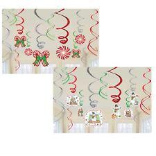 12 Christmas Winter Wonderland Hanging Metallic Swirls Celing Party Decorations