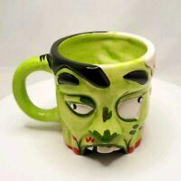 Coffee Mug Ceramic - Monster Halloween - Green 15oz - Free Shipping!
