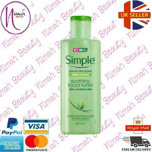 Simple Kind to Skin Soothing Facial Toner 100% Alcohol Free 200ml