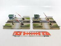CB158-1# 2x Märklin H0/AC 7390 mechanisch-betätigter Bahnübergang (M-Gleis)