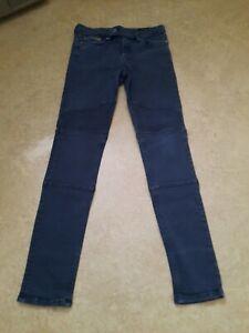 Ladies All Saints Skinny Jeans Size 10 28 Waist Leg 28 biker style