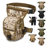 Outdoor Unisex Men Tactical Drop Leg Bag Thigh Pouch Waist Belt Military Bag