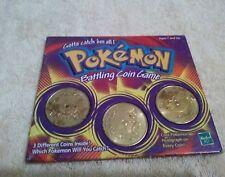 Pokemon Battling Coin Game Hasbro 1999 #131Lapras, #08Wartortle, #138Omanyte