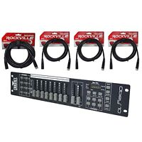 Chauvet Obey 10 LED Universal DMX-512 Lighting Controller + 10' + 25' Cables