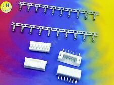 KIT 2x BUCHSE + STECKER 7 polig + CRIMPKONTAKTE Connector 2mm PCB Gerade #A1579