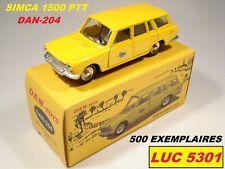 DINKY 507 PAR DAN TOYS SIMCA 1500 BREAK PTT/LA POSTE 500 EX.  #DAN-204  AU 1/43è