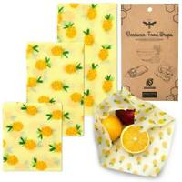 Eco-friendly Beeswax Multipurpose Reusable Food Wraps - Assorted 3 Pack