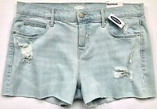 63c66d21ca Old Navy Denim BOYFRIEND Worn LOOK Shorts Cut-offs Size 12 3