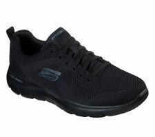 Skechers Men's Memory Foam Black Shoes Mesh Sport Athletic Comfort Casual 232057