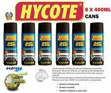 HYCOTE 6 X 400ml MATT BLACK SPRAY PAINT CANS USE WITH ACRYLIC OR CELLULOSE paint