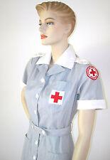 WWII VINTAGE 40s AMERICAN RED CROSS UNIFORM VOLUNTEER NURSE MILITARY DRESS & HAT