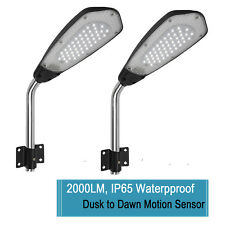 2x Outdoor LED Street Lights Dusk to Dawn IP65 Barn Garage Security Lamp 2000LM