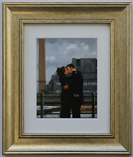 Long Time Gone by Jack Vettriano Framed & Mounted Art Print Gold