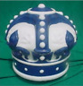"Reproduction Blue Crown Gas Pump Globe approx 16""w x 16""h"