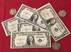 1935 $1.00 Silver Certificate & Silver Half Dollars