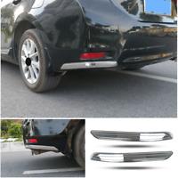 For Toyota Corolla 2014-2018 Chrome Steel Rear Bumper Side Spoiler Cover Trim 2X