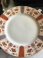 "Queens Imari Dinner Plate Lot of 7 Made In India 10 3/4"" Fine China Dinnerware"