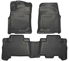 HUSKY LINERS FLOOR MAT FRONT & 2nd ROW SEAT 3 Pcs Set for 13-17 Toyota 4Runner
