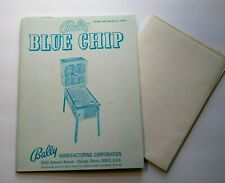 Blue Chip Pinball MANUAL + Schematic Bally 1975 Original Bingo Game Machine