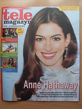 ANNE HATHAWAY on front cover Polish Tele Magazyn 40/2014