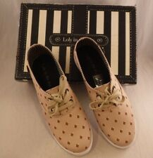 Loly in the Sky Critter Fix Sneakers Tennis Shoes Sz US 10 Fox Head Print Tan