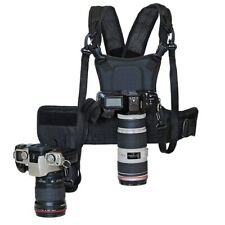 2 Camera Carrying Chest Pro Harness System Vest Quick Strap with Side Holster