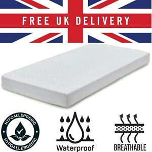 Baby Cot Bed Quilted Mattress Breathable Waterproof Toddler Foam Matress Cover