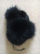 Hockley Real Fur Hat Black Size M