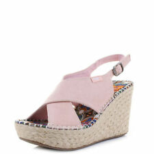 Suede Buckle Platforms & Wedges for Women
