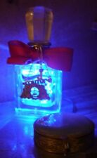 Juicy Couture Recycled Perfume Bottle Battery Powered Blue LED Lamp