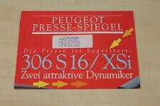 184110) Peugeot 306 S16 - 306 XSi - Pressestimmen - Prospekt 1993