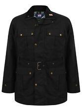 Mens Wax Jacket Biker Waterproof Belted Cotton Made in UK Womens Belt Lined New
