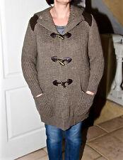 longue veste chaude laine cuir SPORTMAX CODE taille 40/42 (M) EXCELLENT ÉTAT