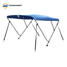 "3Bow Bimini Boat Top Cover with storage boot, Color Blue, 6'L x 46""H x 54""-60""W"