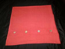 Pottery Barn Linen Euro Pillow Sham Mop Shell Buttons Coral Orange