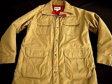 VINTAGE WOOLRICH PARKA khaki field jacket MADE IN USA farmer hunting mens L