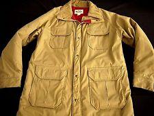 VINTAGE WOOLRICH PARKA khaki field jacket MADE IN USA farmer hunting mens L