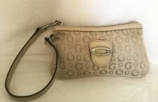 GUESS Faux Leather/Fabric Wristlet/Clutch Bag / Handbag