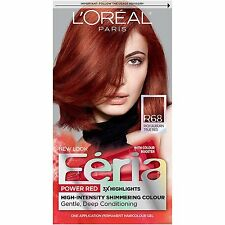 L'Oreal Paris Feria, #R68 Rich Auburn True Red , Hair Color Kit