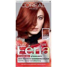 L'Oreal Paris Feria, #R68 Rich Auburn True Red , Hair Color Kit