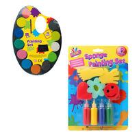 Kids Water Colour Paint, Sponge Painting Set Children Craft Paint Non Toxic 3+
