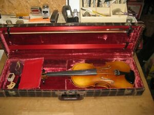 Vintage 4/4 Violin - Bapt. Grancino S43 Fecil Milano w/ Stamped Bow Not Legible