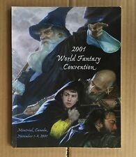 WORLD FANTASY CONVENTION 2001  PROGRAM WITH CD SIGNED FOUR TIMES CHARLES DE LINT