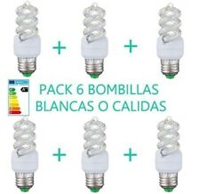 PACK 6 BOMBILLAS 15W LUZ BLANCA O CÁLIDA E27 LED OSSUN AHORRO ENERGÍA A+++ 25000