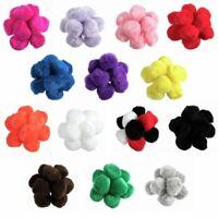 25 x 50mm Pom Poms Embellishments Craft Trimmings Accessories Trimits