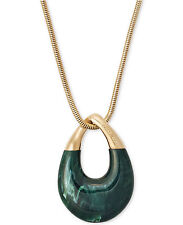 In Box -MICHAEL KORS Autumn Luxe Jade Green Pendant Necklace MKJ5775 -$145