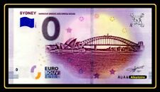 Billet Touristique Souvenir 0 euro Sydney 2019 Harbour Bridge and Opera House